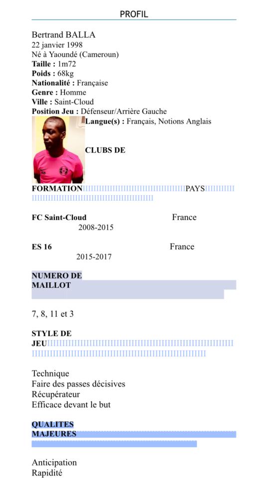 agent football recherche des joueur pour tests europe