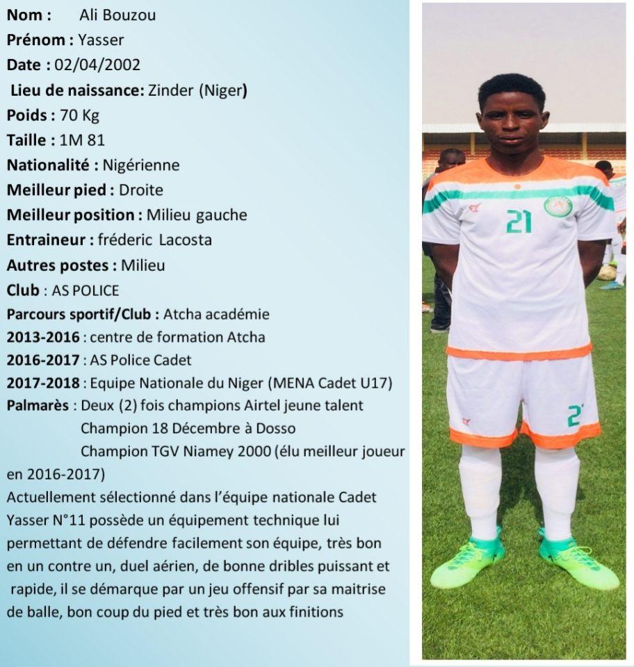 Faire Test Football Etre Accepte Appelle Hamza Maroc Veux