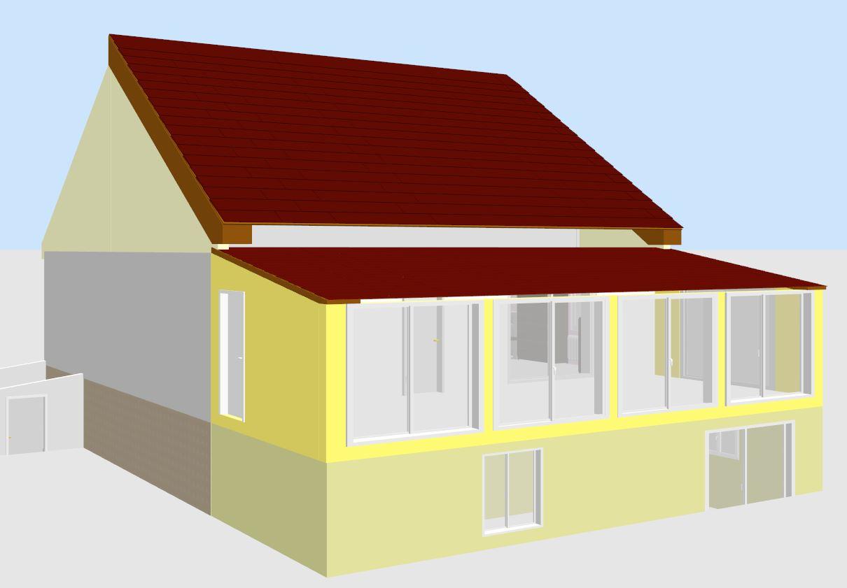 Architecte permis construire projet extension plans tr for Extension maison 30m2 permis de construire
